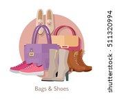 bags   shoes vector concept.... | Shutterstock .eps vector #511320994