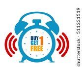 blue buy 1 get 1 free limited...   Shutterstock . vector #511321519