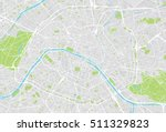 urban city map of paris  france | Shutterstock .eps vector #511329823
