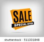 sale orange banner on a white... | Shutterstock .eps vector #511331848