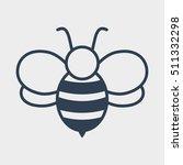 bee icon | Shutterstock .eps vector #511332298