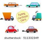set cartoon cars. funny cartoon ... | Shutterstock .eps vector #511332349