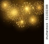 vector holiday golden fireworks.... | Shutterstock .eps vector #511332388