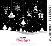 merry christmas and happy new... | Shutterstock .eps vector #511350094