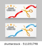 grand opening card with red... | Shutterstock .eps vector #511351798