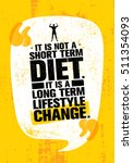 it is not short time diet. it... | Shutterstock .eps vector #511354093