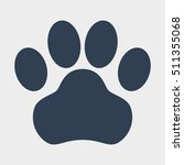 dog paw icon | Shutterstock .eps vector #511355068