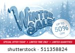 winter sale banner. vector... | Shutterstock .eps vector #511358824