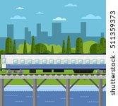 side view of passenger train... | Shutterstock .eps vector #511359373