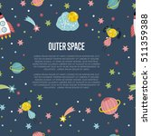 cartoon space background with... | Shutterstock .eps vector #511359388