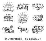 vector handwritten happy... | Shutterstock .eps vector #511360174