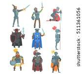 knights in full armor set of... | Shutterstock .eps vector #511361056