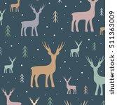 decorative reindeer vector... | Shutterstock .eps vector #511363009