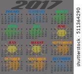 background texture. calendar... | Shutterstock .eps vector #511364290