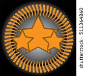 an orange grunge  rock n roll...   Shutterstock .eps vector #511364860