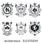 heraldic coat of arms...   Shutterstock .eps vector #511370254
