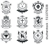 heraldic signs  elements ... | Shutterstock .eps vector #511370338