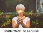 blonde woman having fun with a...   Shutterstock . vector #511370350