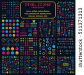 Vector Flat 8 Bit Icons ...