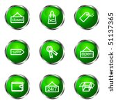 set of 9 glossy web icons  set...   Shutterstock .eps vector #51137365