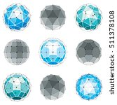 3d vector digital wireframe... | Shutterstock .eps vector #511378108