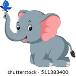 elephant cartoon | Shutterstock . vector #511383400