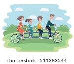 vector cartoon illustration of... | Shutterstock .eps vector #511383544