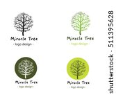 set of tree logo. miracle tree. ... | Shutterstock .eps vector #511395628