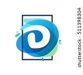 d letter logo in square frame... | Shutterstock .eps vector #511398304