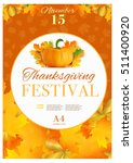 happy thanksgiving day poster... | Shutterstock .eps vector #511400920