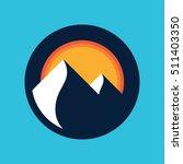 mountains vector icon. | Shutterstock .eps vector #511403350