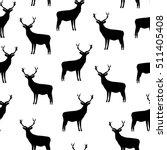 black deer  deer silhouettes ... | Shutterstock . vector #511405408