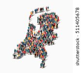 people map country netherlands... | Shutterstock .eps vector #511405678