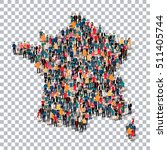 people map country france vector | Shutterstock .eps vector #511405744
