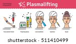 vector illustrated set with...   Shutterstock .eps vector #511410499