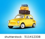 little retro car with bags... | Shutterstock . vector #511412338