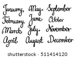 calligraphic month names set... | Shutterstock .eps vector #511414120