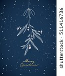 handwritten christmas... | Shutterstock .eps vector #511416736
