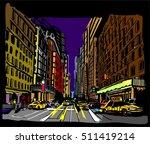 new york city. city hand drawn ... | Shutterstock .eps vector #511419214