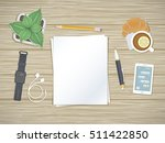 clean sheets of paper on the... | Shutterstock .eps vector #511422850