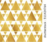 gold triangles isolated on... | Shutterstock . vector #511424764