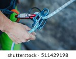 female belayer with the rope... | Shutterstock . vector #511429198