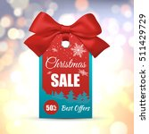 christmas sale tag with... | Shutterstock .eps vector #511429729