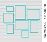 blank picture frame template... | Shutterstock . vector #511430020