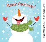 funny snowman enjoying the... | Shutterstock .eps vector #511433884