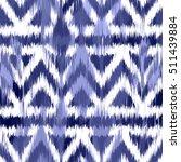 ikat seamless pattern design...   Shutterstock . vector #511439884