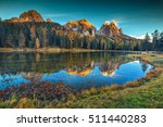 fantastic autumn landscape... | Shutterstock . vector #511440283