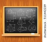 geometric figures on black... | Shutterstock .eps vector #511442239