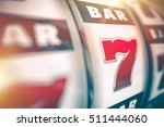 slot machine lucky casino game. ... | Shutterstock . vector #511444060