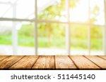 desk space platform and window... | Shutterstock . vector #511445140